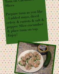 [Blog Post] Amanda's Wellness Kitchen: Tuna on Cucumber Slices